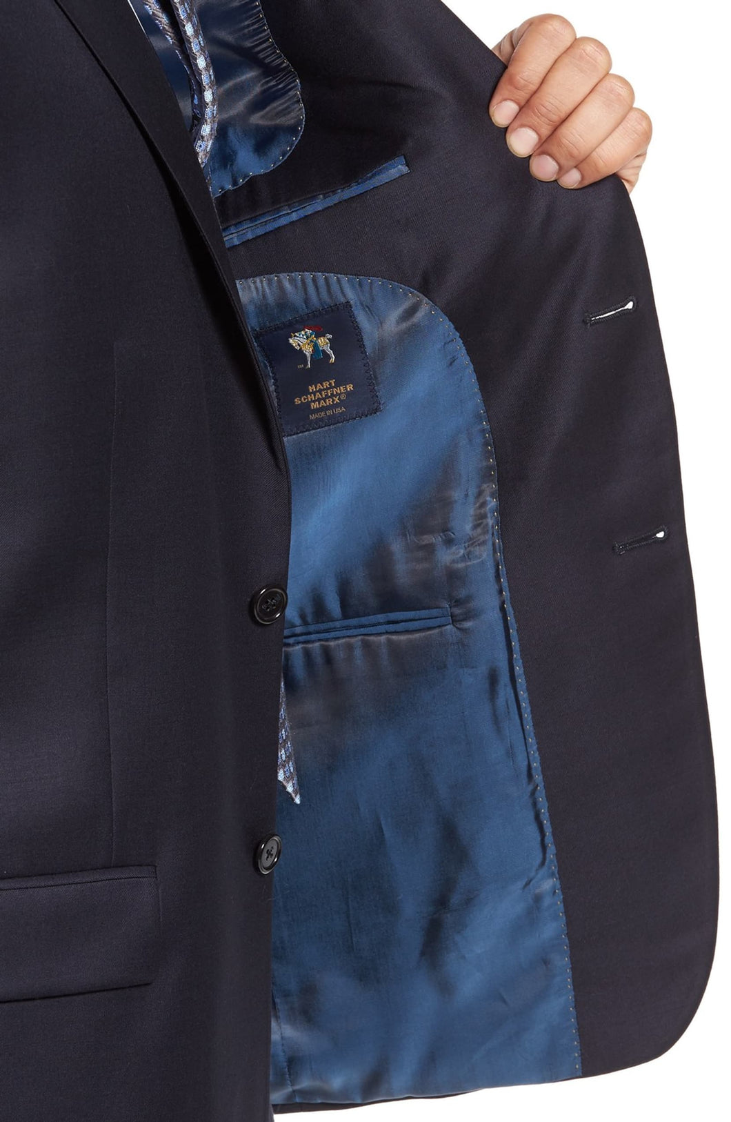 Hart Schaffner Marx Full Fit Navy Suit