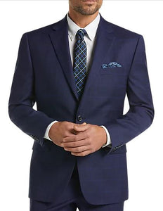 Lauren Navy Plaid Classic Fit Suit