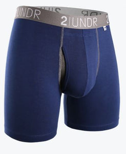 "2Undr Swing Shift Navy/Grey 6"" Boxer Brief"