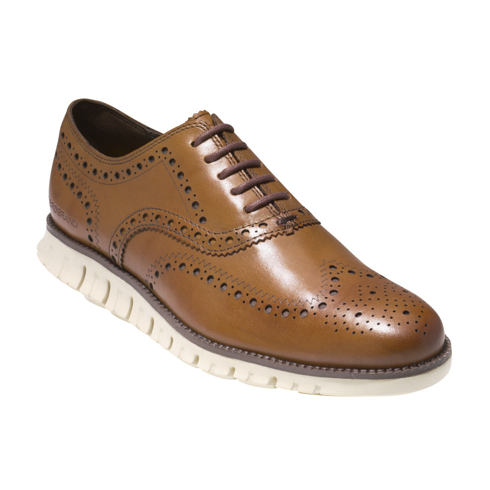Cole Haan ZeroGrand British Tan Wingtip