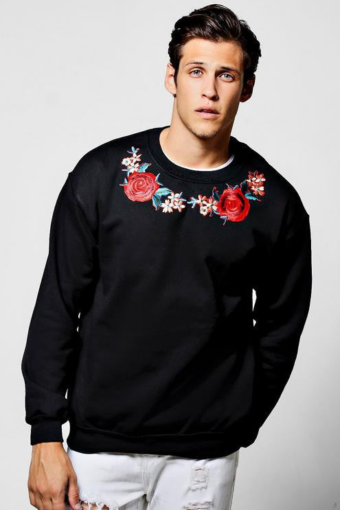 Rose Sweater in Black