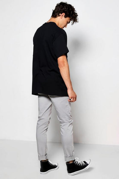 Camicia Slim Tee in Black