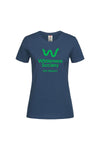 Life Support  Ladies Organic Cotton Navy Tshirt