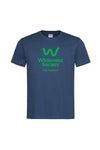 Life Support Mens Organic Cotton Navy Tshirt