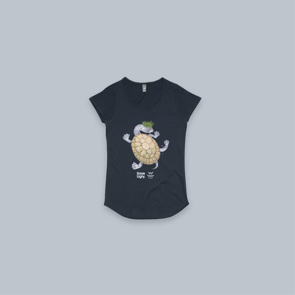 Ugly turtle scoop neck tee
