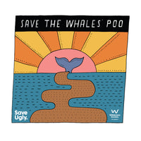 Save the whales' poo scoop neck tee