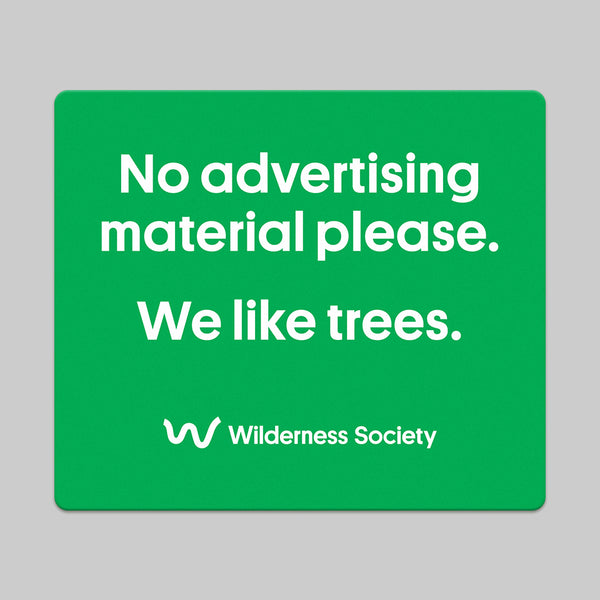 No junk mail - we like trees sticker