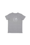 Fight For The Bight: White Print Youth Grey High-Five Tee