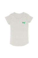 Lapel logo Women's Organic Cotton Natural T-shirt