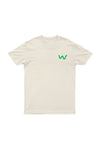 Lapel logo Men's Organic Cotton Natural T-shirt