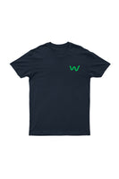 Lapel logo Men's Organic Cotton Navy T-shirt