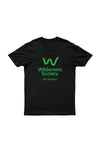 Life support Green Logo Black Tshirt