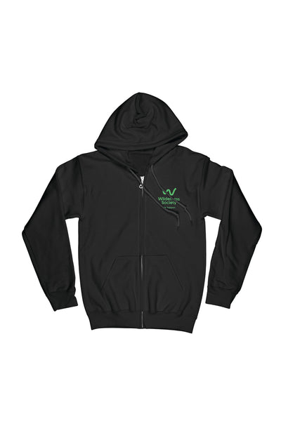 Life Support Green logo Black Zip Hood