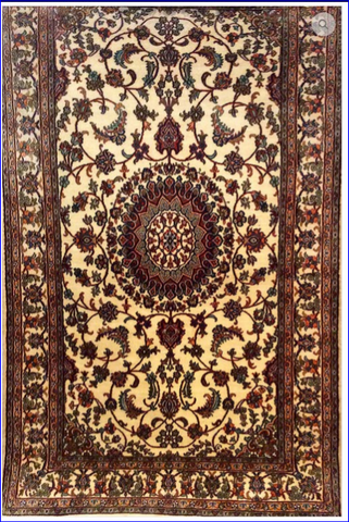 Silk-on-Silk Carpet,Gul-e-Taj-Mashad