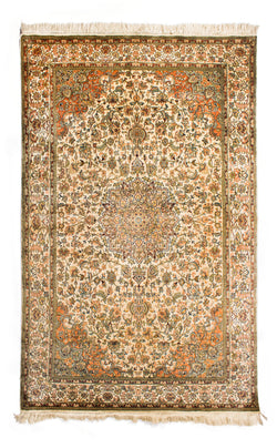 Silk-on-Silk Carpet, Akhzare Burda-Mashad