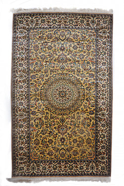 Silk-on-Silk Carpet, Fauz Safeeda Sidra-Shiraz