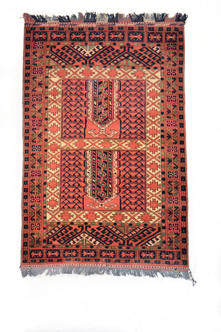 Pardha , Antique Wool Carpet