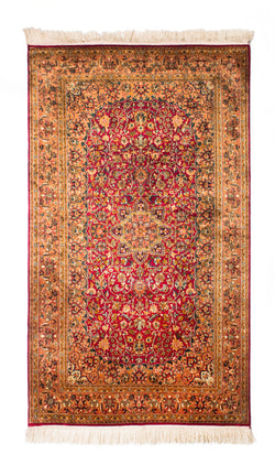 Silk-on-Silk Carpet, Turk Gaambi-Nain