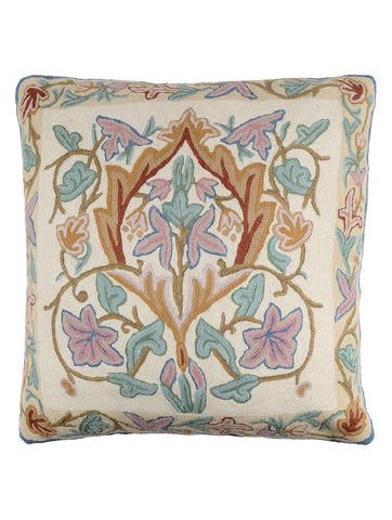 Floral Chainstitch Cushion Cover 2