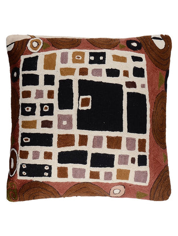 Klimt inspired Chainstitch Cushion Cover