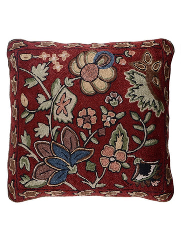 Floral Chainstitch Cushion Cover 3