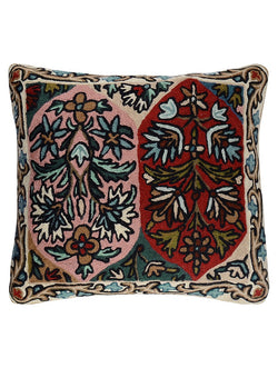 Floral Chainstitch Cushion Cover