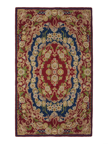Aubusson (Red) Chainstitch Rug