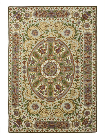Medallion Chainstitch Rug 1