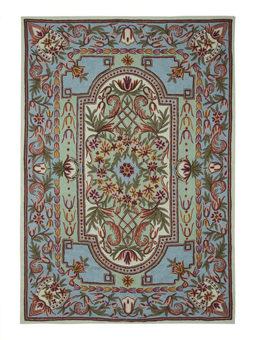 Antique Aubusson Chainstitch Rug