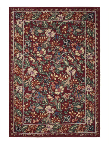 RL Chintz Maioon Chainstitch Rug