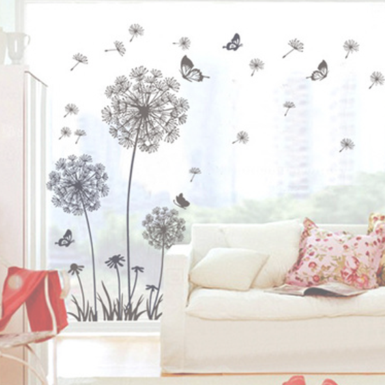 Dandelion & Butterfly Wall Decal