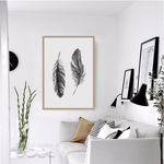 Black Feather Canvas