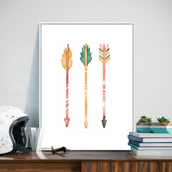 Colored Arrows Canvas