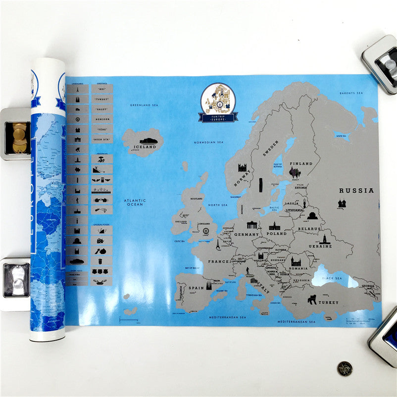 Scratch Off Europe Map