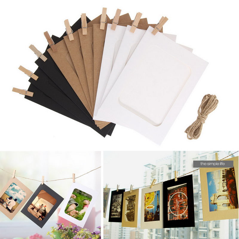 DIY Hanging Wall Photo Frames - 10 Pack