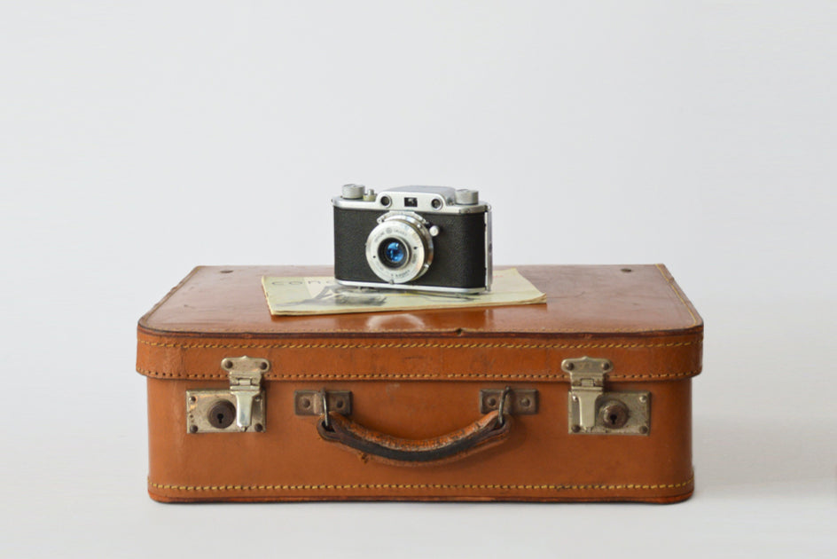Suitcase and camera