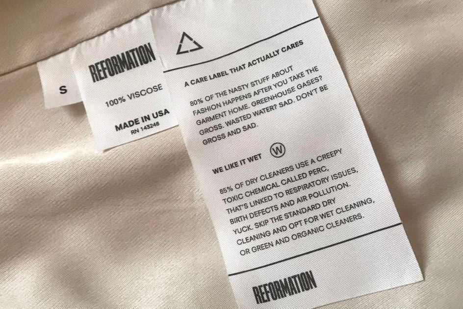 Wet Cleaning Label Reformation