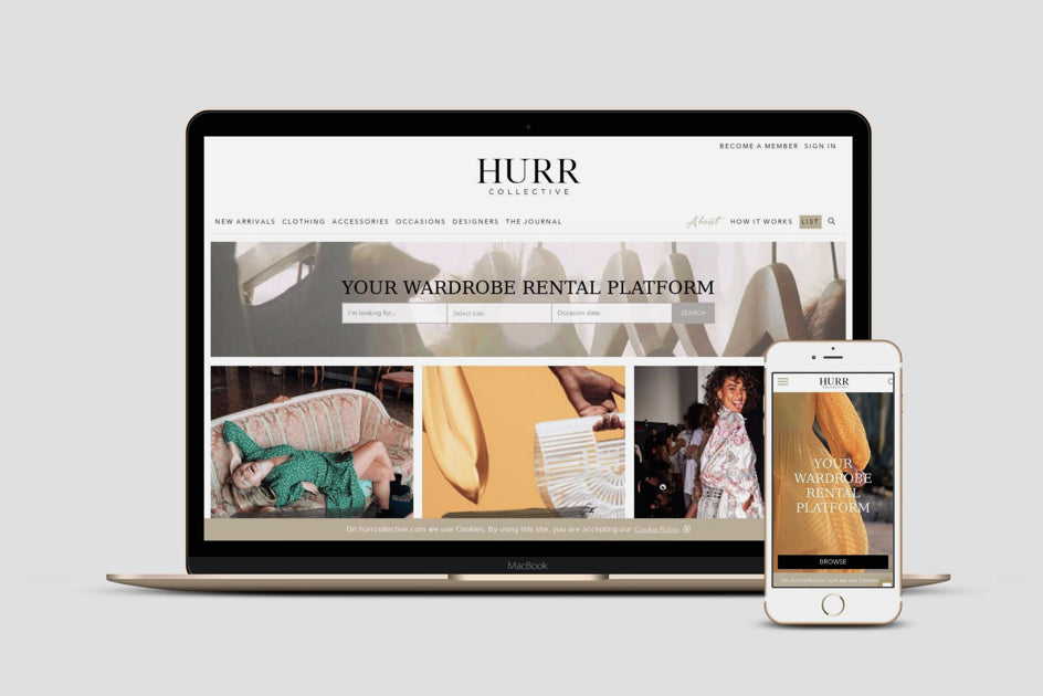 HURR collective online rental platform