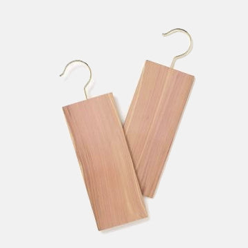 Natural Cedar Moths Repellent | Set of 2 Hanging Blocks