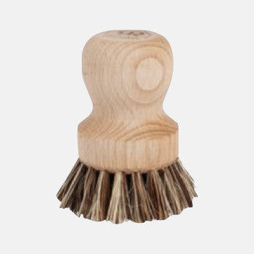 Wooden Pot & Vegetable Brush
