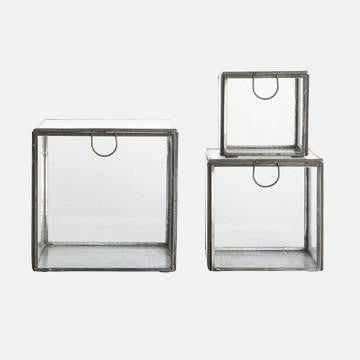 Glass & Iron Storage Boxes