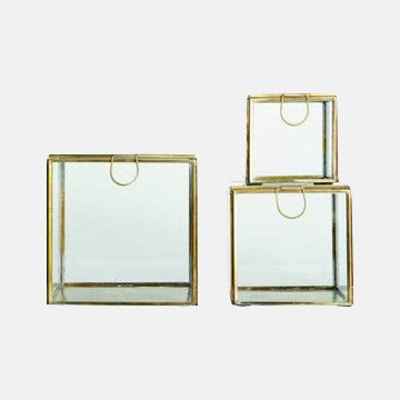 Glass & Brass Storage Boxes