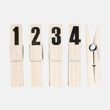 Set of 4 Giant Numbered Note Pegs