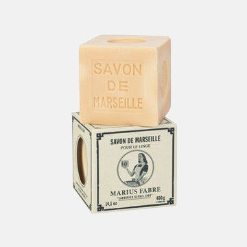Cube of Pure Marseille Household Soap In Vintage Style Box