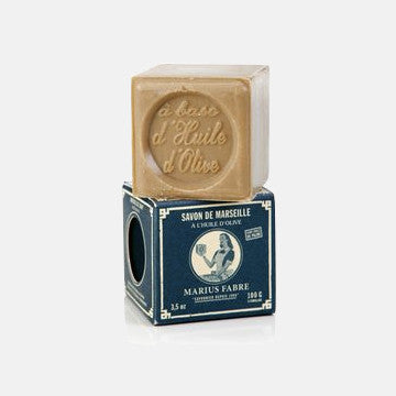 Cube of Pure Marseilles Body Soap In Vintage Style Box