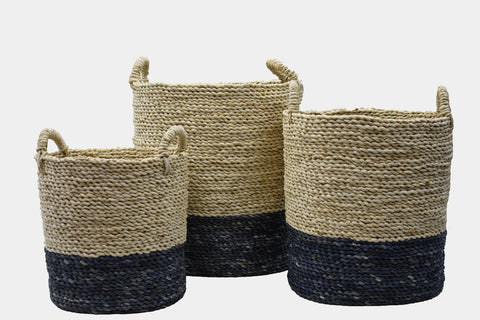 Natural & Grey Maize Basket