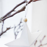White Paper Star Decoration
