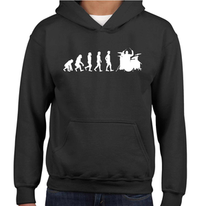 Evolution Of The Drummer Childrens Hoodie