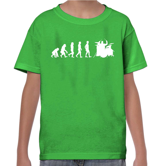 Evolution Of The Drummer Childrens T-Shirt