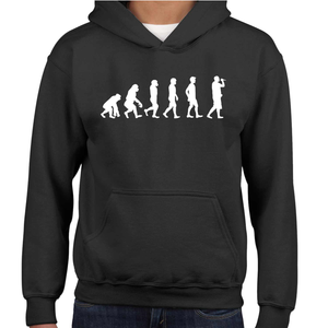 Evolution Of The Vocalist Childrens Hoodie